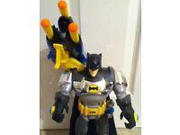 "Batman Figure/Toy 16"" with firing soft foam missiles"
