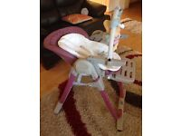 Chicco Polly Magic Highchair in pink