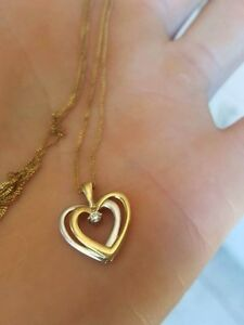 10k gold necklace with diamond