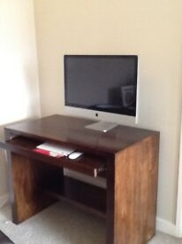 Solid mango wood desk and swivel chair
