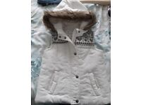 Girls Cream Gilet - Age 8-9. Immaculate Condition.