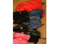 Drawstring Stuff Sacks in assorted sizes and colours
