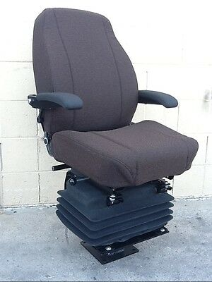 Case Backhoe 580c 580d 580e 580k 580l 580m Loader Seat Brown Cloth Seat