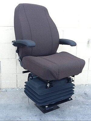 Case Backhoe 580c 580d 580e 580k 580l 580m Loader Seat Brown Cloth Seat