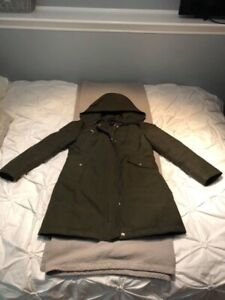 Army green winter parka