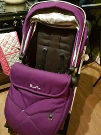 Silvercross Wayfarer Pram with Car seat in Purple