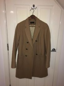 Camel Coat with Brass Buttons by Masimo Dutti