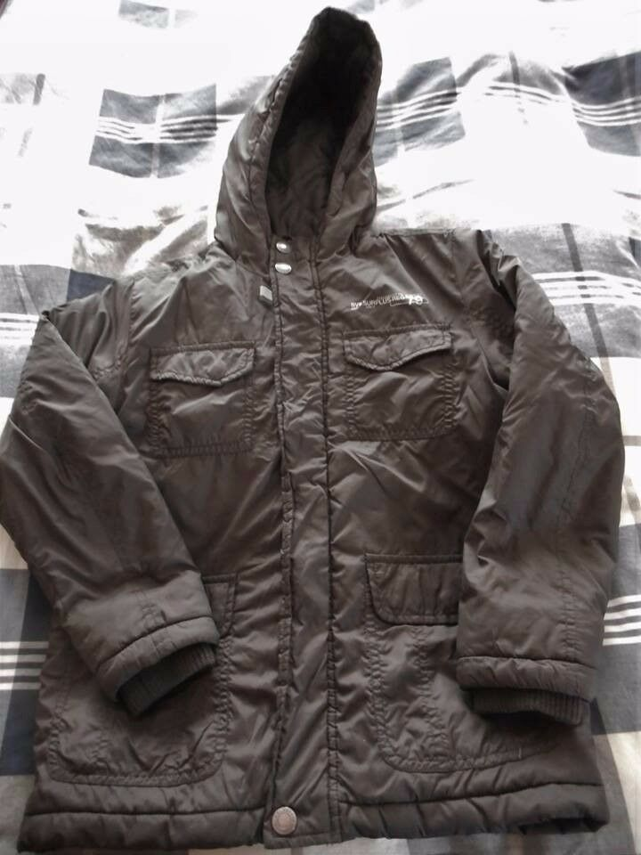Boy's Chocolate Brown Winter Padded Coat Size 7-8 in VGC - cash on collection from Gosport Hampshire