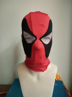 Deadpool Costume Sale (Clearance Sale Movie Deadpool Mask Cosplay Costume Prop Halloween Lycra)