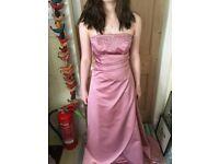 Ball Dress, Soft Satin Pink, Size 6-8