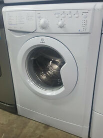 A380 white indesit 6kg washing machine comes with warranty can be delivered or collected