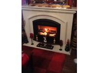 fireplace ,Lovely electric fire and surround all in one