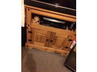 Wooden television unit