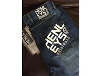 Henleys mens jeans 34 inch & 32 inch waist regular length light and dark brand WT delivery CNAULD