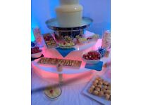 CHOCOLATE FOUNTAIN HIRE, WEDDING, CHRISTENING,BIRTHDAY PARTY,