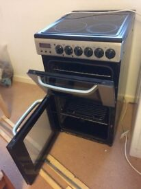 Zanussi 60cm Glass-top Cooker and Double Oven