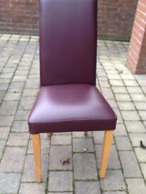 M & S dining chairs