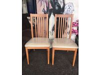 New Littlewoods Pair of Occasional / Dining Chairs
