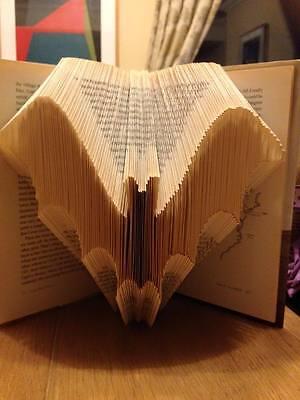 Bat Folded Book Art Folding PATTERN ONLY (Halloween gift idea) #015