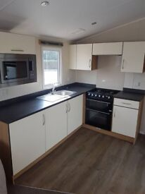 8 berth static caravan at Haven Marton mere for hire, Central heating and double glazed