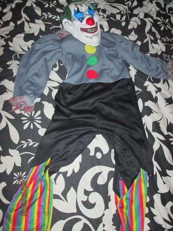 BOYS SCARY CLOWN FANCY DRESS OUTFIT AGE 5/6 YEARS GREAT FOR HALLOWEEN