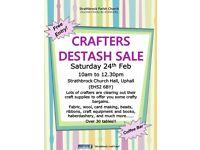 Crafters Destash Sale - Grab some crafty bargains