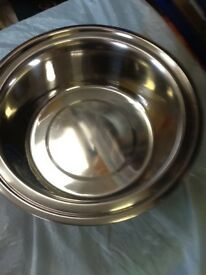 Set of 3stainless steel bowls