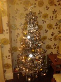 5 FT CHRISTMAS TREE. brand new last year. with lots of lovely decorations