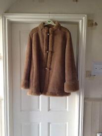 Retro French style geniune sheepskin coat