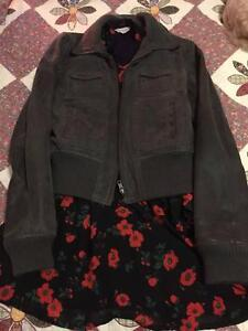 Genuine Women's Grey Leather Jacket Jumper Hornsby Hornsby Area Preview