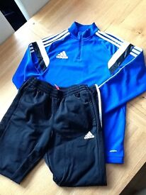 BOYS ADDIDAS TRACK TOP AND BOTTOMS AGE 11-12