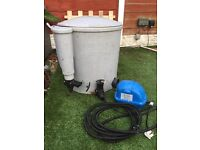 pond filter and pump etc for sale