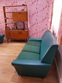 Retro 3 three piece suite original vintage sofa and two arm chairs selling to fund just giving page