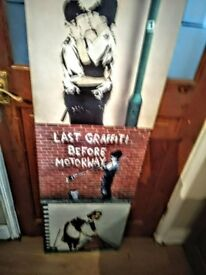 BANKSY SET OF 3 CANVASES