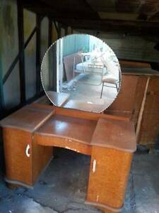 Vintage Dressing Table/China Cabinet & Record Player Bankstown Bankstown Area Preview