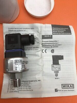 Wika Transmitter Eco-1 0...25 Psi 4...20 Ma Dc 10...30 V S 5394847 P