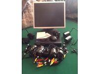 4 camera cctv set up with monitor