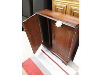 Mahogany C.D. door unit Copley Mill Low Cost Moves 2nd Hand Furniture STALYBRIDGE SK15 3DN