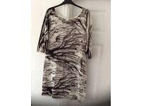 Black/white dress from TU