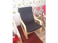 Ikea rocking chair dark navy blue