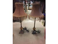 TABLE LAMPS ( PAIR )
