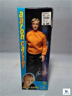 """Play Along Aaron Carter  signed box 12"""" doll NRFB NEW"""