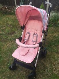My Babiie MB51 Pink Chevron Stroller