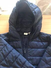 Boys Gap Navy light down jacket with hood