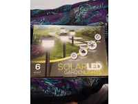 Pack of 6 solar garden lights new