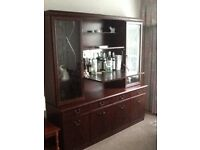 Unmarked quality sideboard/display drinks unit