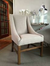 SOPHISTICATED BRAND NEW BEIGE GREY LINEN CURVED BACK DINING CHAIRS!!! Casuarina Kwinana Area Preview