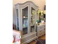 SALE!! French Antique Display Cabinet