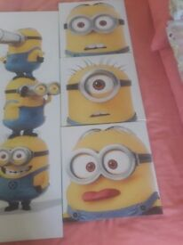 MINION KID CANVASES ( FIVE)
