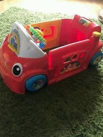 Toy car sit in toddler
